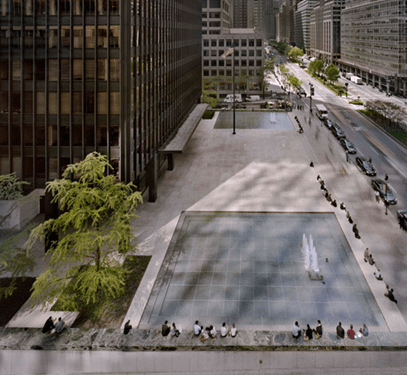 seagram fountains, pools