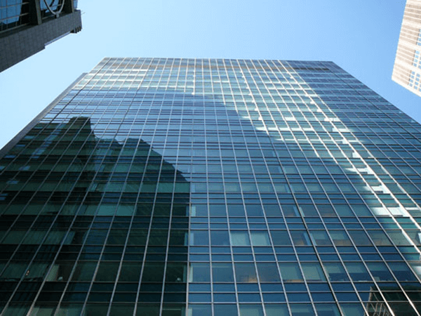 stainless steel and glass curtain wall