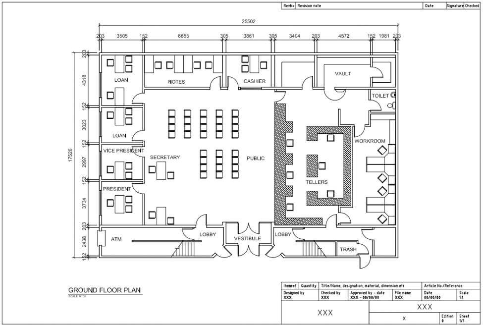 AutoCad (for Architecture) – Architectural Floor plans with Annotations