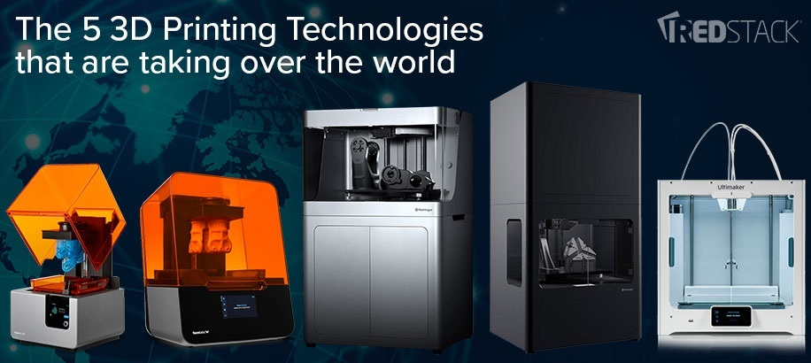 The 5 3D Printing Technologies that are taking over the world
